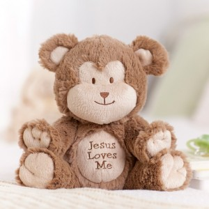 Jesus Loves Me - Musical Monkey Plush