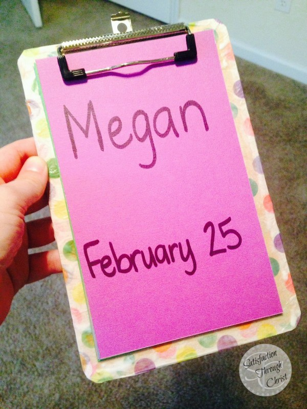 Write Out the Birthdays!