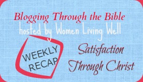 Blogging Through the Bible Weekly Recap - Bible Study Devotionals from Satisfaction Through Christ