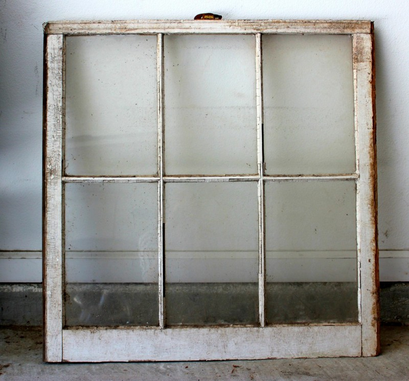 Old Window Pane Turned Antique Mirror