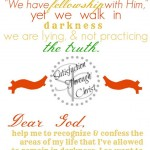 Fall Color Bible Verse and Prayer Printable from 1 John 1 | Satisfaction Through Christ - Blogging Through the Bible