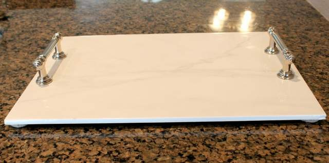 Make This Beautiful Marble Serving Tray In A Few Simple Steps Makes Perfect Diy