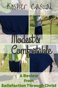 Kosher Casual: A Review from Satisfaction Through Christ   Searching for modest clothing can be frustrating. Modest outfits begin with modest clothes and they're hard to find. Hear my thoughts on Kosher Casual as an option for the Christian women's wardrobe!