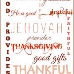 Free Thanksgiving Subway Art Prints from Satisfaction Through Christ