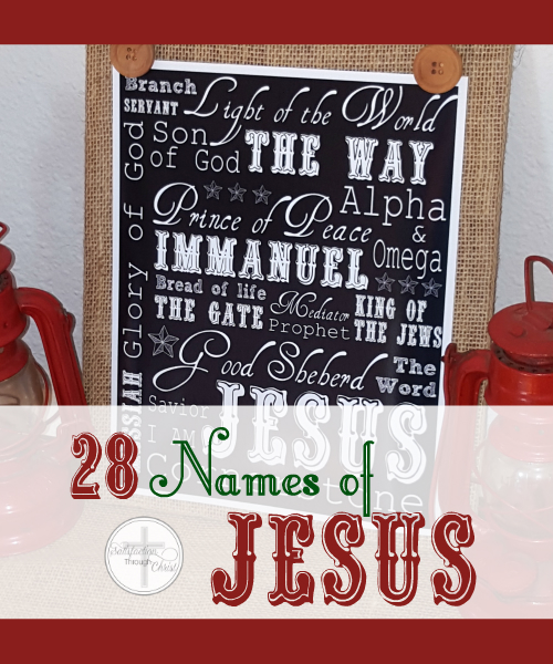 photo relating to Free Printable Pictures of Jesus titled 28 Names of Jesus Moreover Absolutely free Introduction Calendar