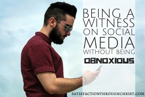 """Is it possible to be a witness for Christ on Facebook without the obnoxious threat posts and lengthy sermons? What does the Bible say about representing Jesus online? 3 PRACTICAL suggestions from Satisfaction Through Christ to """"redeem Facebook"""" and help you realign your Facebook with your faith!"""