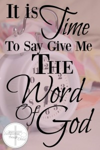 Do you feel like you are going in the wrong direction? Held captive to your own desires? It is time to ask for the Word of God!