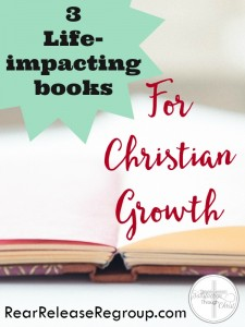 3 Life-impacting books for Christian growth; resources for encouragement, writing, or impacting truth from God's Word. Biblical wisdom for godly living.