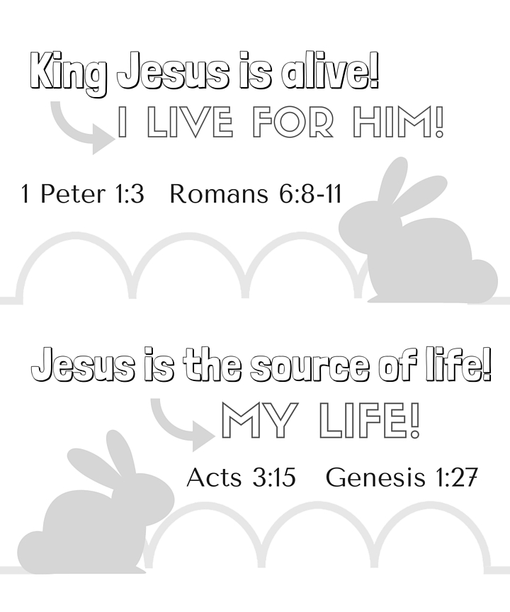 Easter Teaching Activity Free Printable for Young Kids with Learning Suggestions! From Satisfaction Through Christ